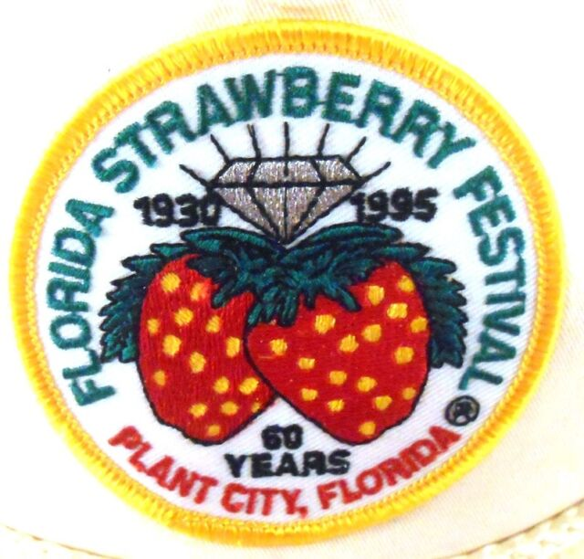 Florida Strawberry Festival Plant City FL 60 Years Patch Strapback Cap Hat