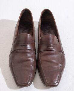 Prada Uomo tipo pelle 8 in marrone taglia vera 1727 Mocassini OqPTHP