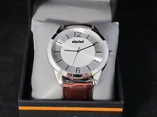 Unlisted Kenneth Cole Men's Analog Brown Leather Band Watch UL 0472