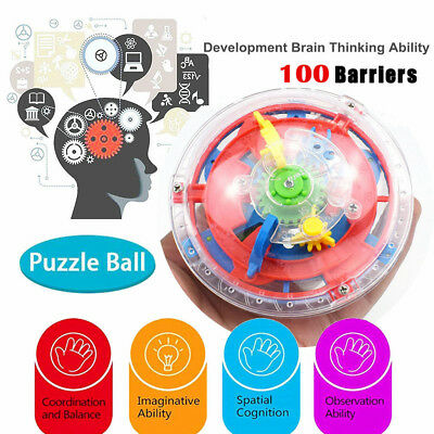 Brain Teaser Labyrinth Puzzle Game Training Toy 3D Maze Ball Magic Cubes UK