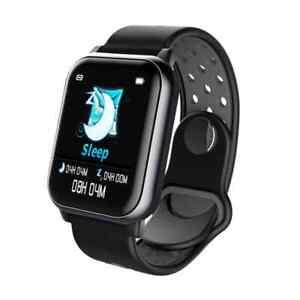Smart Watch Herzfrequenz Blutdruck Sauerstoff Monitor Sport Uhr schwarz Bakeey