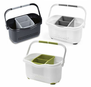 Addis Sink Caddy Organised Kitchen Storage Cutlery Drainer