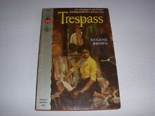 TRESPASS by EUGENE BROWN, Pocketbook #964, 1953, Interracial Romance, Vintage PB