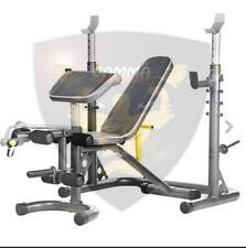 Gamma Fitness Olympic Utility Bench Total Body Workout Set