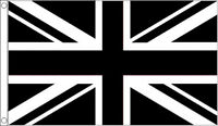 BLACK and WHITE UNION JACK FLAG 5' x 3' Flags