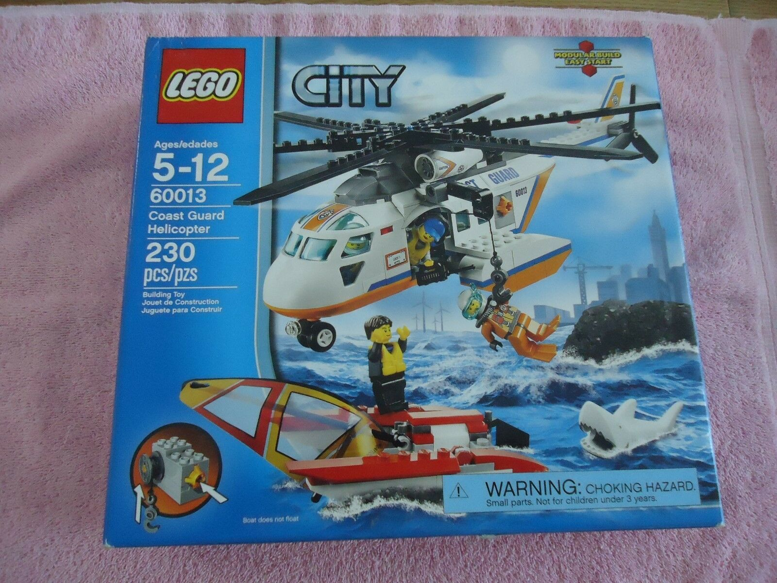 LEGO 60013 City Coast Guard Helicopter 230 Pieces Complete/Instructions