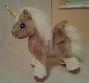 "Neopets Brown Uni Unicorn Plush 7"" stuffed animal 2004 Snap Creative Rare HTF"