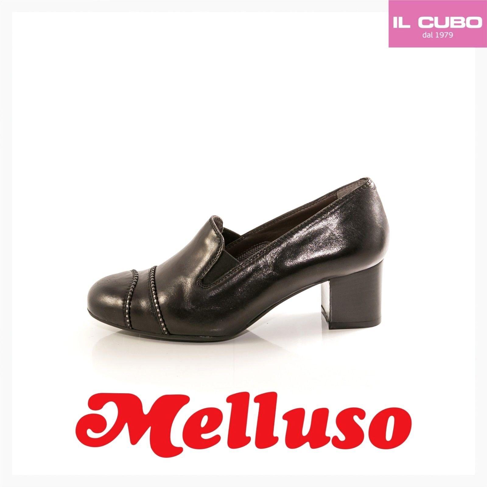 MELLUSO SCARPA women MOCASSINO PELLE color black TACCO H 5,5 CM MADE IN ITALY