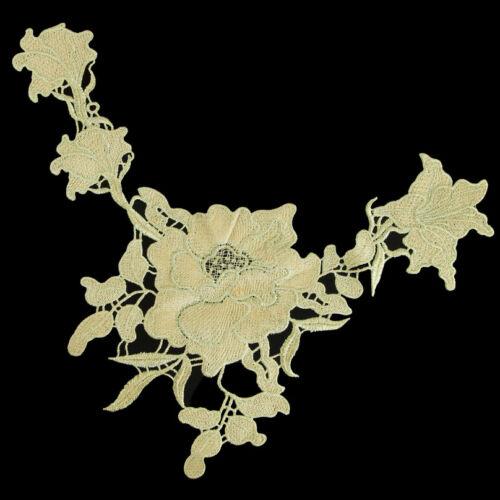 Venedig Gold Spitze Borte Blumen Polyester Zier Klöppelspitze Verzieren Top