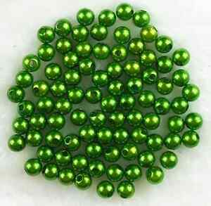 200Pcs-6mm-Green-Acrylic-Round-Pearl-DIY-Marking-Spacer-Loose-Beads