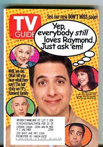 TV Guide Magazine October 5-11 2002 Ray Romano EX w/ML 091616jhe