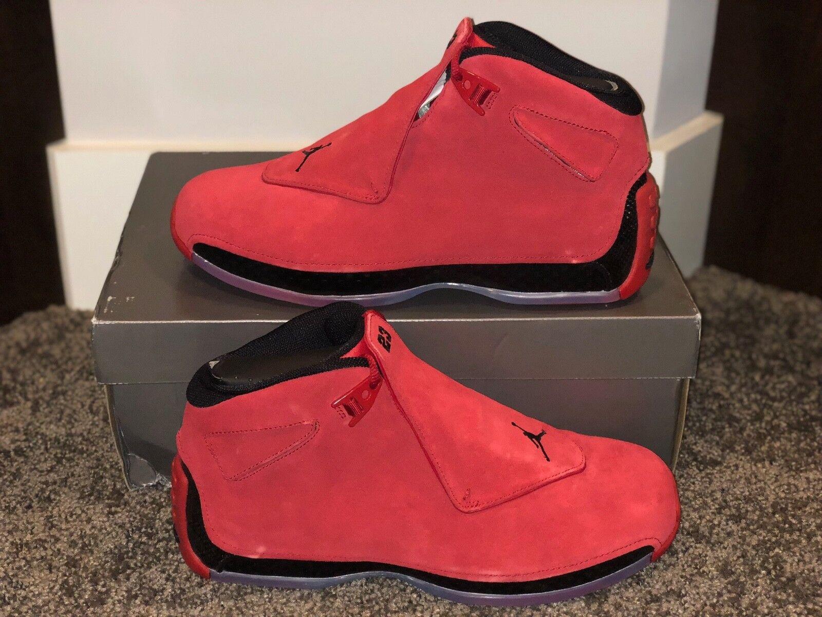 Nike air jordan xviii 18 toro retrò scamosciato x ds sz 11 x aa2494-601