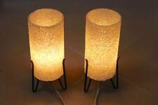 2 Granulat Rocket Tisch Lese Lampen Leuchten 60er Jahre
