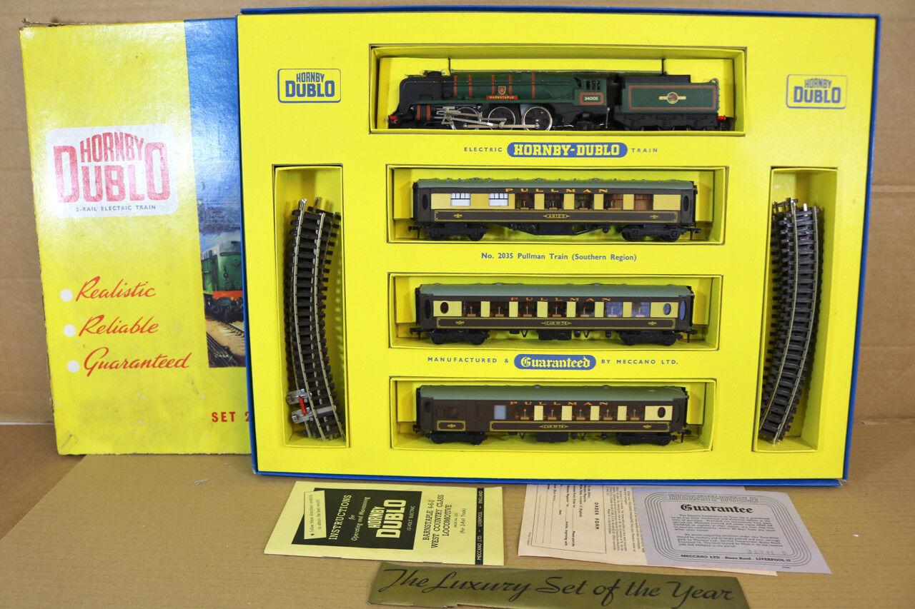 punto de venta en línea Hornby Dublo 2035 Br Br Br Sr Pullman Conjunto Tren 4 6 2 Barnstaple Loco 34005 en  moda clasica
