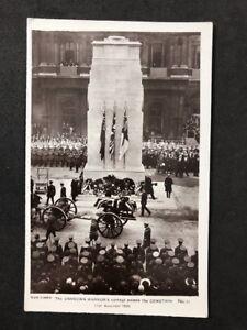 Vintage-Postcard-Royalty-A145-Unknown-Warriors-Cortege-Cenotaph-1920