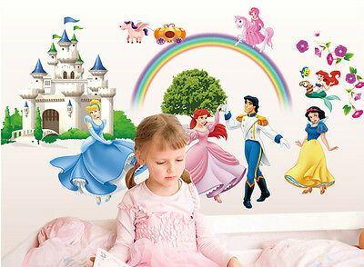 Kid's Princess Beauty Magnificient Castle Children Bedroom Wall Decor Sticker