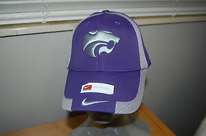 purchase cheap e4e2a 49a39 Image is loading NEW-Nike-Swoosh-Flex-Fit-Hat-Kansas-State-