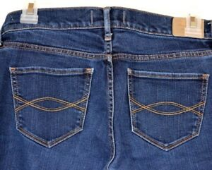 8a06af6935 ABERCROMBIE & FITCH DESIGNER JEANS Size-2S BLUE STRETCH Distressed ...