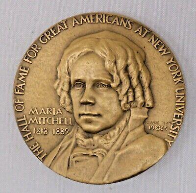 Maria Mitchell Bronze Medal New York University Hall of Fame Medallic Art |  eBay