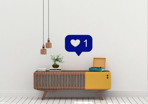 Diseño inspirado en Instagram como social Hogar Decoración Pared Arte Calcomanía Vinilo Sticker