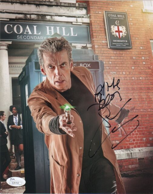 Peter Capaldi Doctor Who Autographed Signed 8x10 Photo JSA COA #6