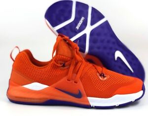 reputable site d387e 71118 Image is loading Nike-Zoom-Train-Command-College-Clemson-Tigers-Orange-