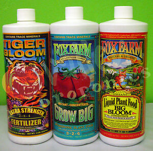 FoxFarm-GROW-BIG-TIGER-BLOOM-BIG-BLOOM-SOIL-or-HYDRO-TRIO-PT-QT-GAL-Fox-Farm