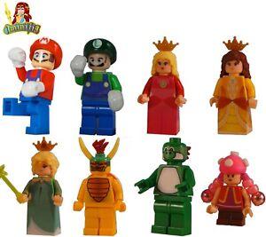 LEGO Custom minifigure Super Mario Luigi Peach Bowser Yoshi Toadette and more