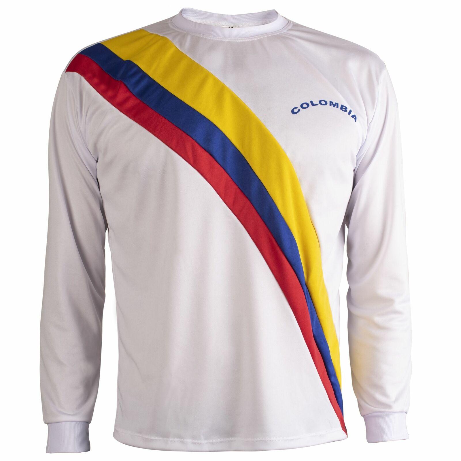 Colombia 1983 Shirt Retro Football Long Sleeve Mens Top