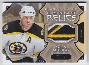 2015-16-UD-BD-GLEN-MURRAY-PATCH-27-75-MINE-RELICS-Game-Used-Black-Diamond-Bruins