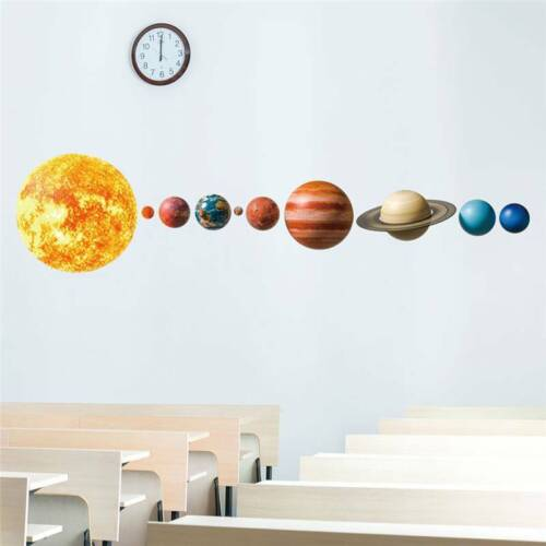 Space Solar System Outer Planets Wall Decal Kids Room Bedroom Sticker Decor CB
