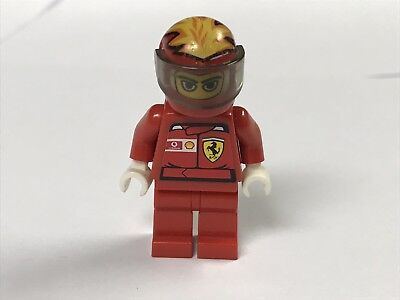 LEGO Racer minifigure race car driver Minifigure classic red zip torso.