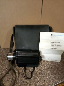 Vintage-Bell-And-Howell-Super-8-Video-Camera-with-Case-amp-Instructions