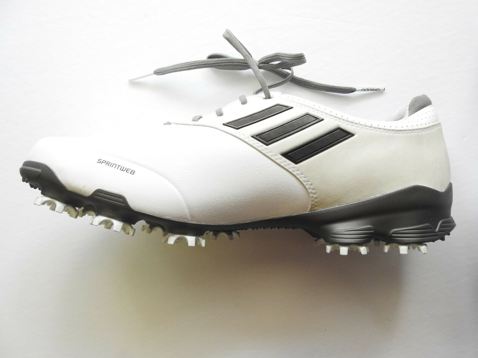 adidas Adizero Sprint Web Mens 10 ships White/Gray Cleats - Usually ships 10 in 12 hrs!!! 1b7433