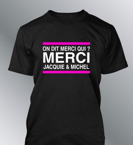 Tee shirt personnalisé homme Merci Jacquie et Michel humour porno amateur X