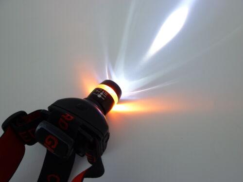 Stirnlampe Praktische CREE LED Stirnleuchte York schwarz  Batterie inklusive