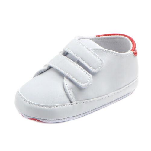 UK New Infant Toddler Baby Boy Girl Soft Sole Crib Shoes Sneaker Newborn