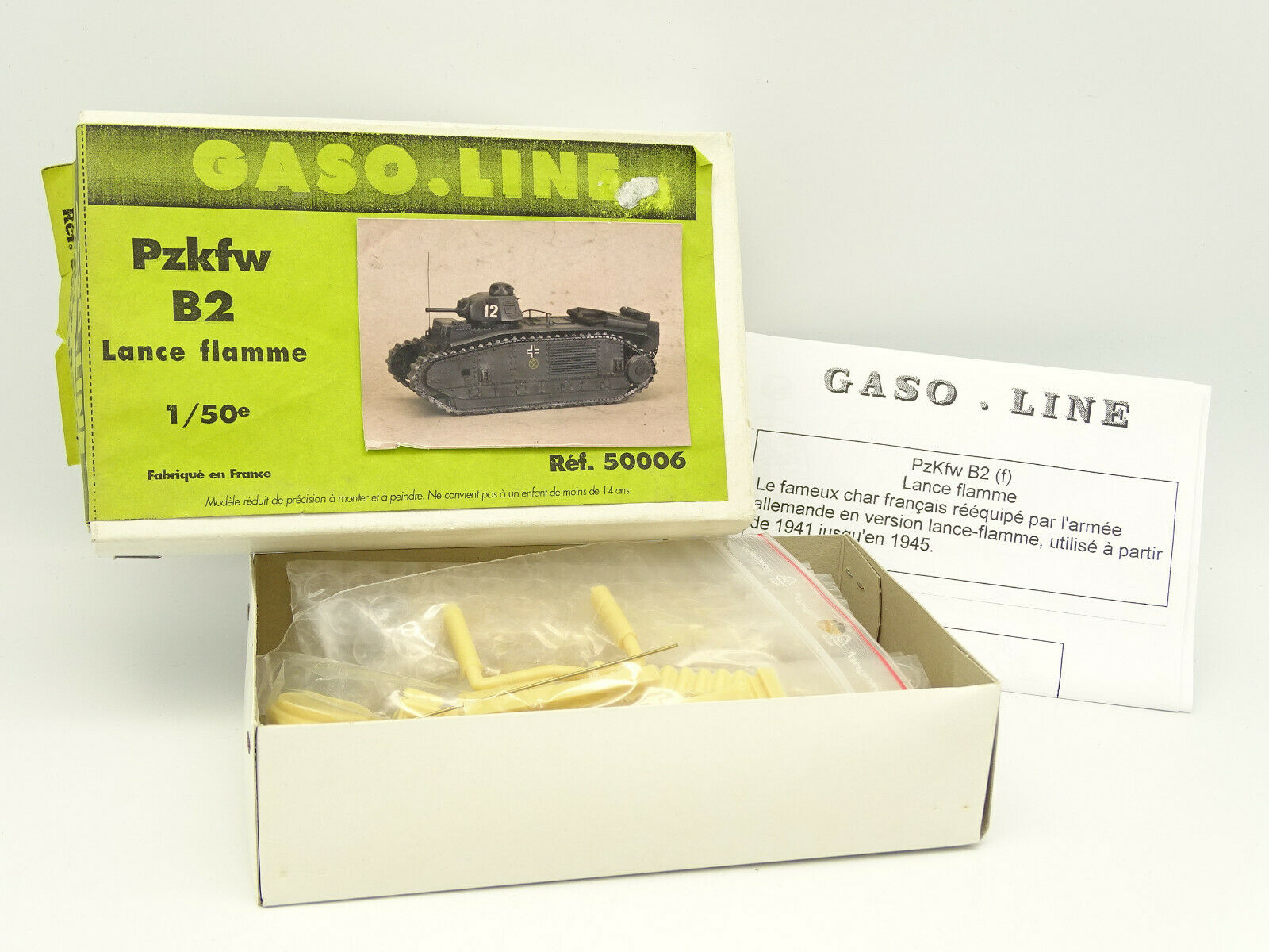 Gasolina Linea Kit Resina 1 50 - Tanque Tank (Tanque) Pzkfw B2 Lanza Llamas