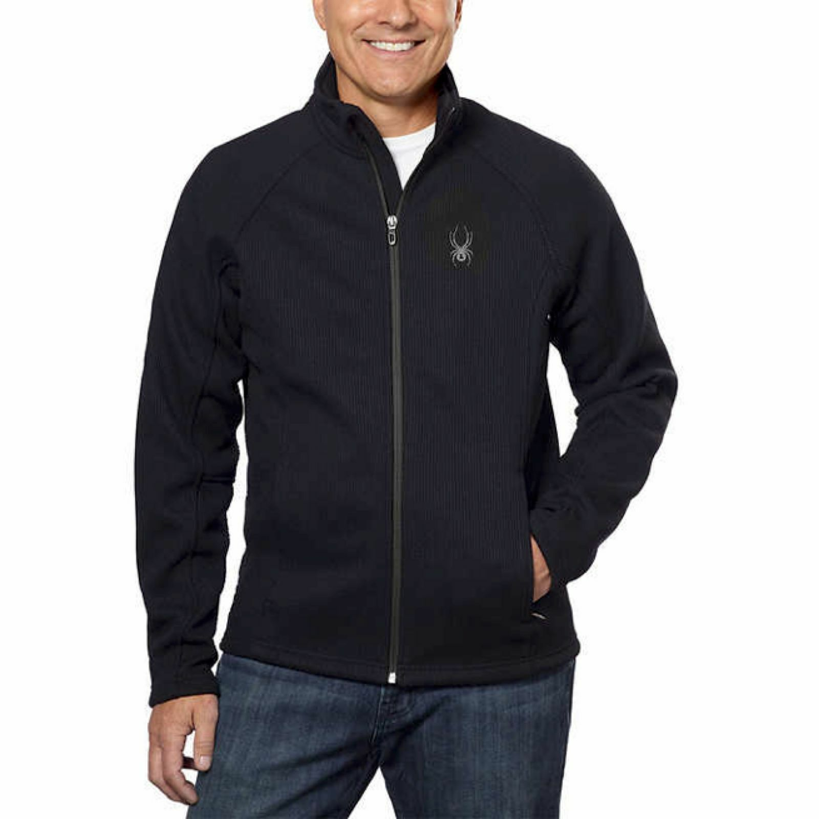 NWT Mens Spyder Foremost Full Zip Heavy weight core sweater  Size Small