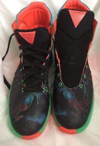 e159232dbd11 Details about Nike Hyperdunk 2015 Black Hyper Orange Blue Lagoon Green  Shock ~ Sz 7Y ~ No Lace