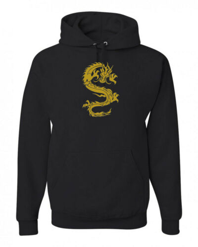 Gold Chinese Dragon  Sweatshirt Hoodie SIZES S-3XL
