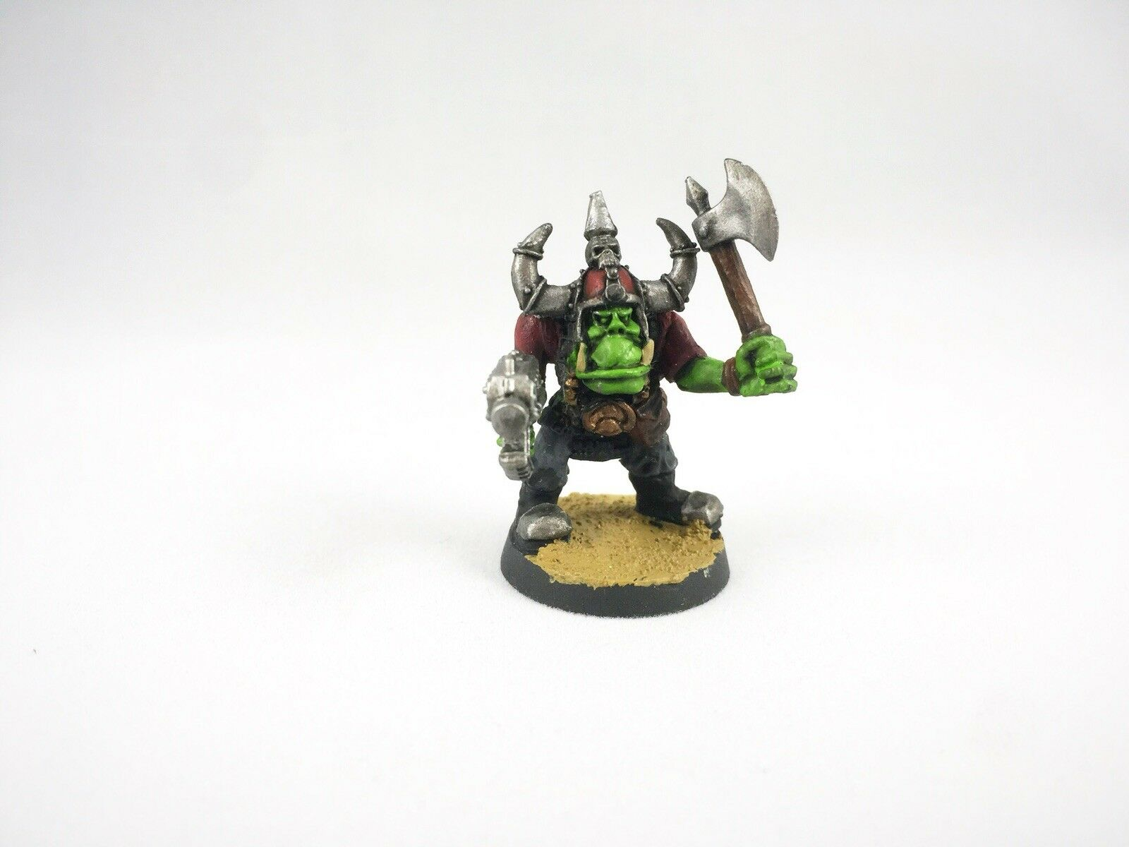 12x Warhammer 40k 2nd Edition Metal Ork Nobz Nicely Painted