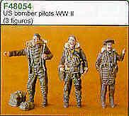 Czech Master 1//48 US Bomber pilots WWII standing x 3 # F48054