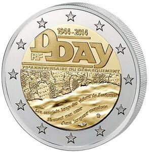 2 Euro Münze 70 Jahre D Day Krieg Usa 2 Wk Befreiung Hitler