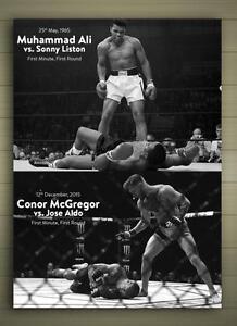 image is loading conor mcgregor amp muhammad ali framed canvas poster - Muhammad Ali Framed Pictures
