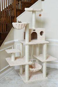69-034-Armarkat-Cat-Tree-Condo-Bed-Perch-Play-House-Scratching-Post-Beige-A6901