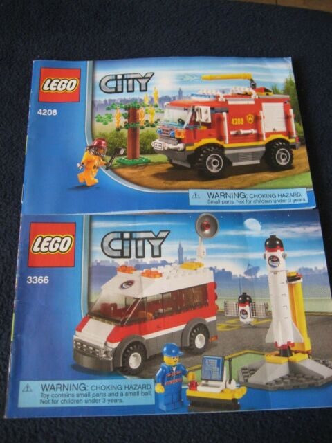 Lego City Instructions Manual Only 4208 And 3366 Ebay