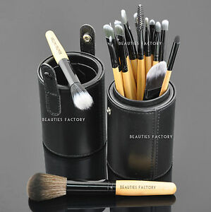 18 pcs Eye Makeup Brush Set Black Leather Brush Holder Stand The Bat 820 - <span itemprop=availableAtOrFrom>Darlington, Co Durham, United Kingdom</span> - Returns accepted - Darlington, Co Durham, United Kingdom