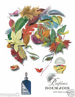 Vintage Perfume Advertising Poster/print/evening In Paris /parfums Bourjois17x22