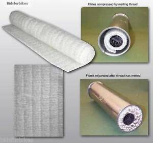 Exhaust End Can Packing Sound Silencing Sheet Motorcycle Bike Motocross 1M x 450